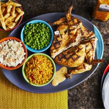 Full Platter - Whole Chicken, PERi-Salted Chips, Macho Peas, Spicy Rice and Coleslaw