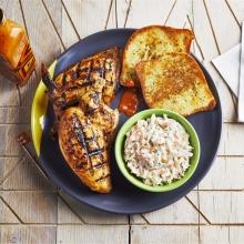 Half PERi-PERi Chicken, Garlic Bread and Coleslaw