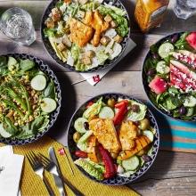 Salad's - Caesar Salad, Grains 'n Greens, Watermelon & Feta Salad, House Salad